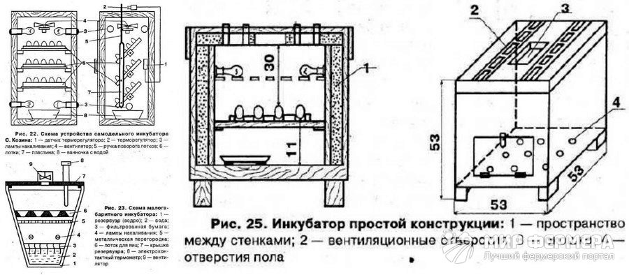 Простые инкубаторы для дома своими руками чертеж