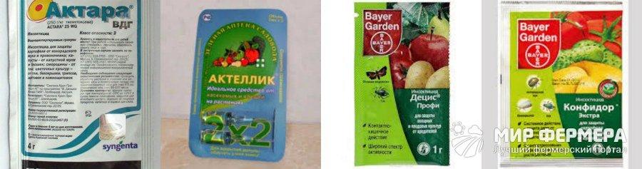 Средства против вредителей комнатных растений