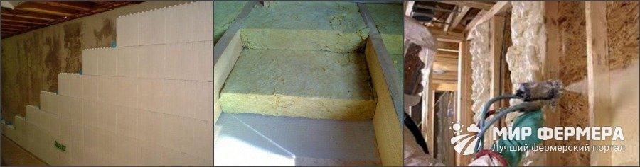 Строительные материалы для утепления погреба