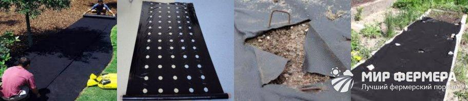 Как стелить агроволокно