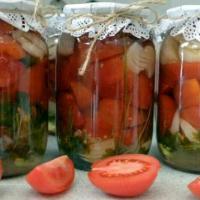 Салат из красных помидор на зиму