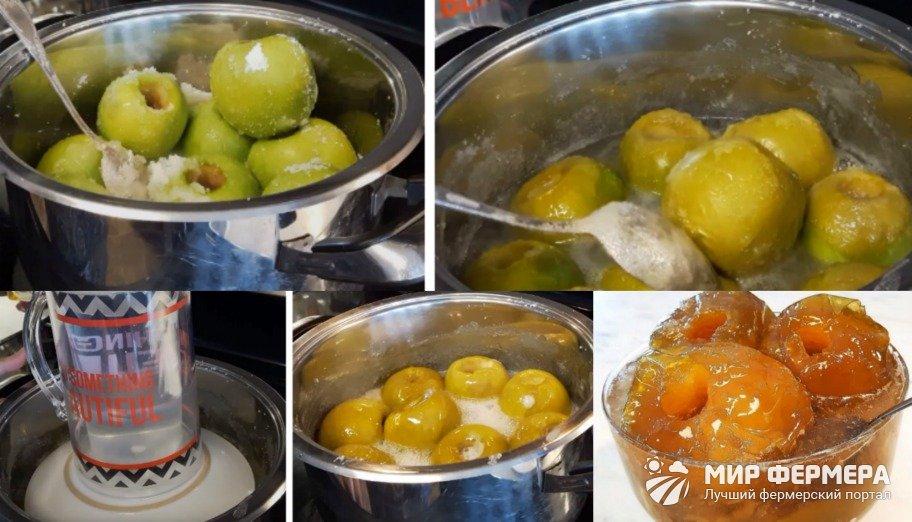 Варенье из целых яблок на зиму
