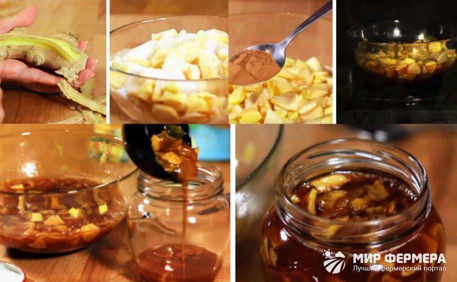 Яблочное варенье в микроволновке