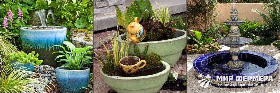 Как украсить садовый фонтан