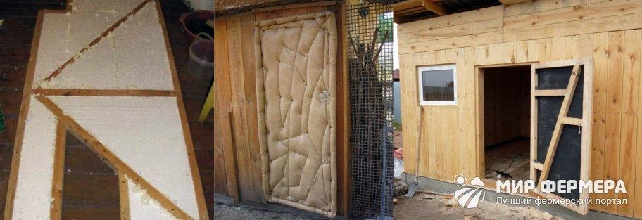 Как утеплить дверь в сарае