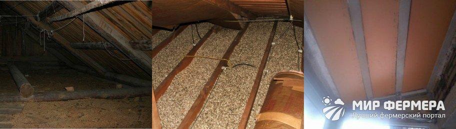 Как утеплить потолок в сарае